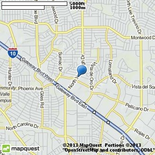 map of angeles bridal boutique