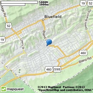map of bluefield dance theatre