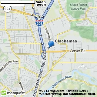 map of clackamas banquet & catering