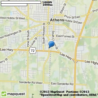 map of cook travel of athens llc