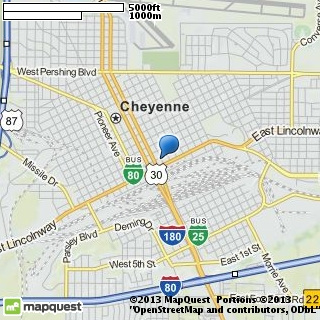 map of de luxe cleaners & tailors