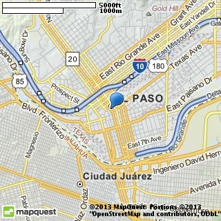 map of el paso's finest discotheque