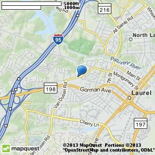 map of laurel bridal & gown shop