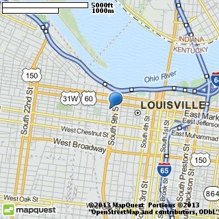 map of limousine service-louisville