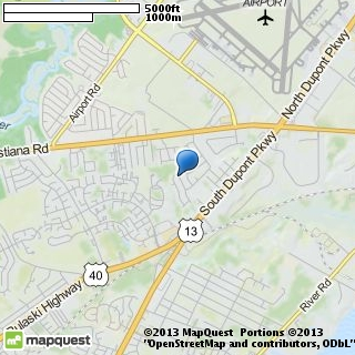 map of new castle shuttle & taxi service
