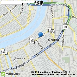 map of new orleans event rental