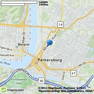 map of parkersburg civic ballet