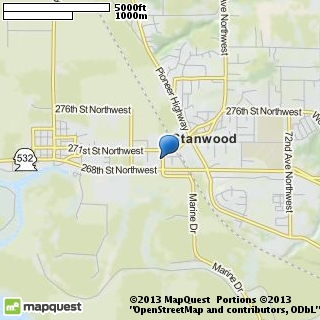 map of stanwood school of dance