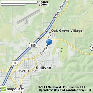 map of strausers gift boutique
