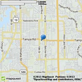 map of unity church of palm harbor