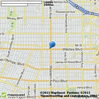 map of wilshire bridal salon